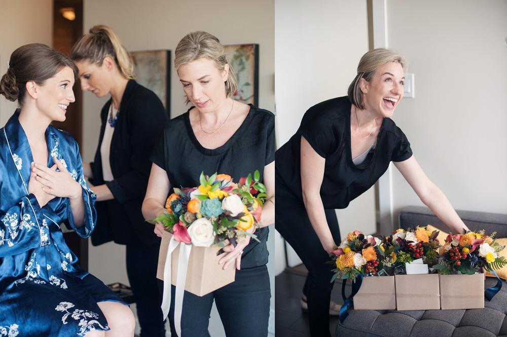 bouquet arrival