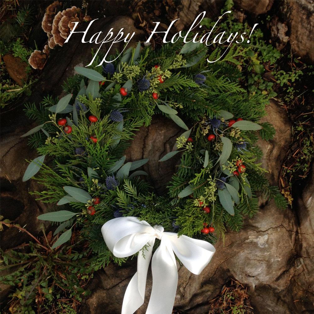 happy holidays wreat