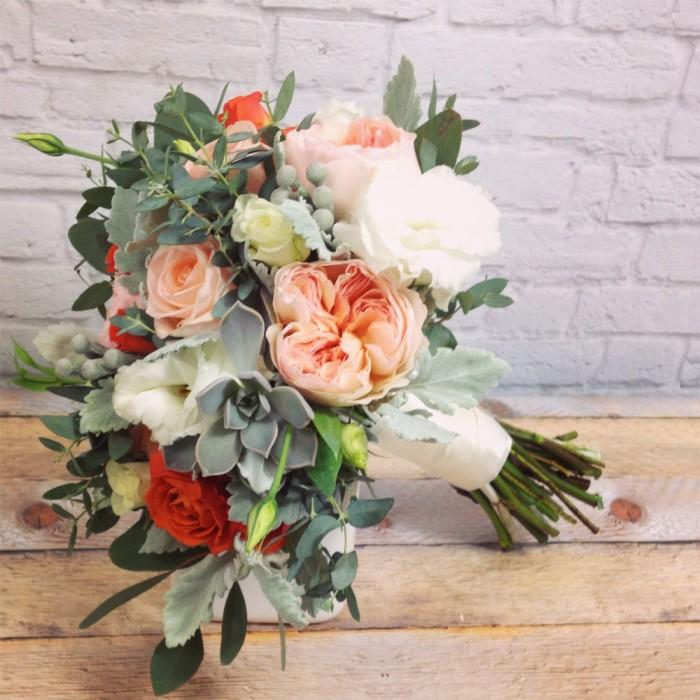 peach bridal